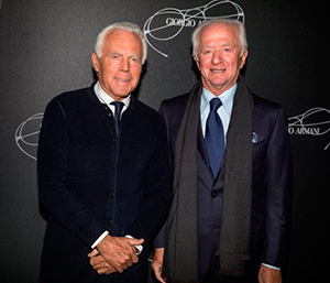 Giorgio Armani and Luxottica celebrate their partnership with an exclusive event during Milan Fashion Week