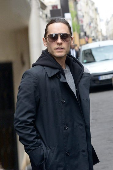 Jared Leto spotted wearing BOSS 0477/s sunglasses