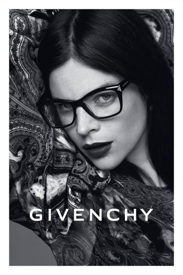 Givenchy's 2013 eyewear ad campaign features Dalianah Arekion and Quim Gutierrez