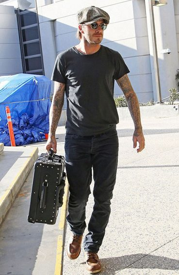 David Beckham Spotted Wearing Ermenegildo Zegna Sunglasses