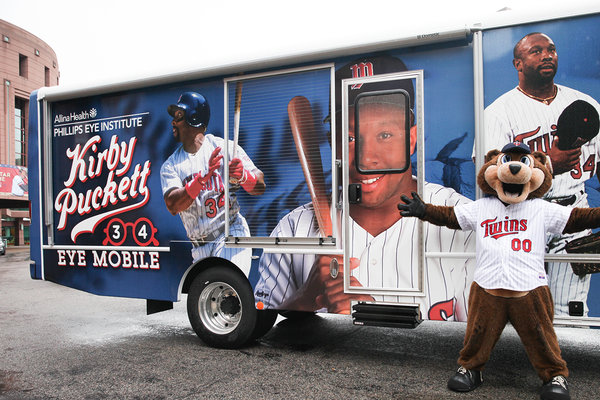Ogi Eyewear donates eyeglass frames to the Kirby Puckett Eye Mobile