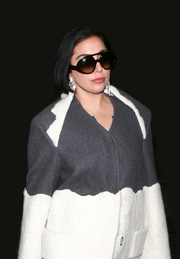 Lady Gaga Spotted In Valentino Sunglasses