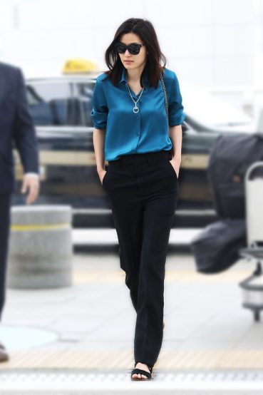Gianna Jun Recently Sported The Gucci Sunglasses
