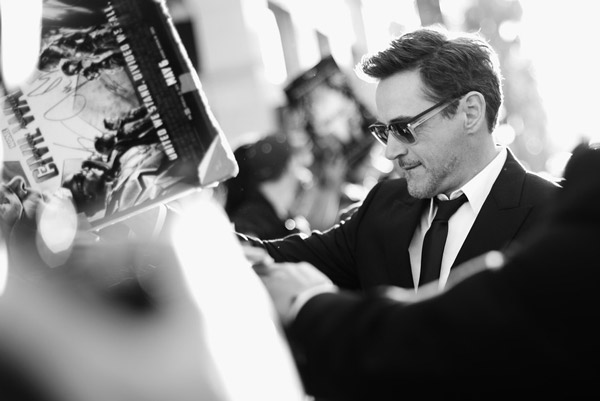 Robert Downey Jr  Walked The Red Carpet In Police Sunglasses