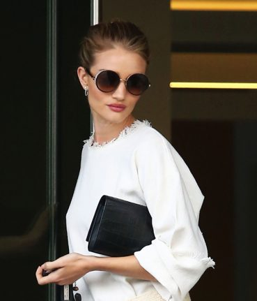 Rosie Huntington Wears Jimmy Choo Sunglasses