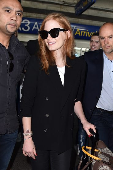 Jessica Chastain In Tod's Sunglasses