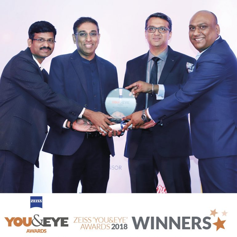 Titan Eye Plus Wins Best Marketing Initiative- Retail Chains (All India) in ZEISS YOU&EYE AWARDS 2018