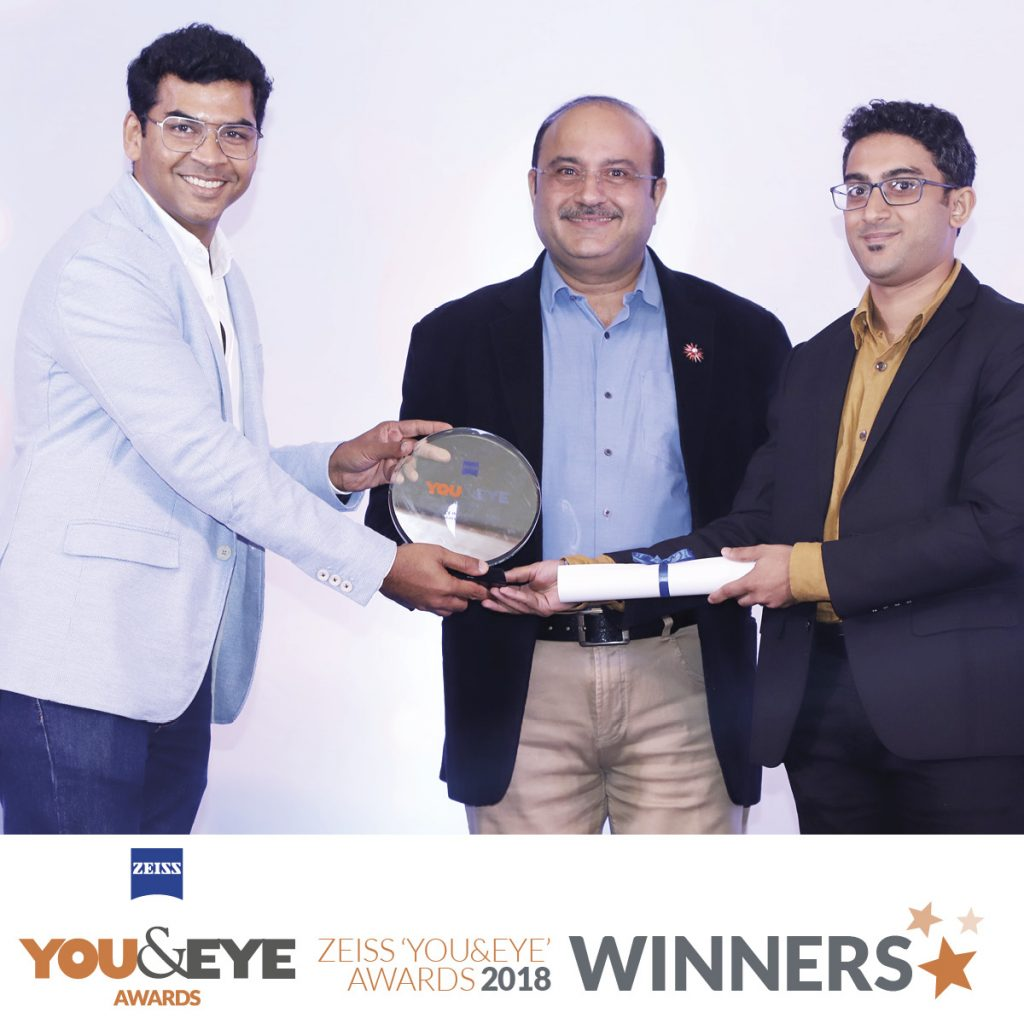 Vision 2020, Mumbai Wins Best Marketing Initiative – Boutique Store (Metros) in ZEISS 'YOU&EYE' AWARDS 2018