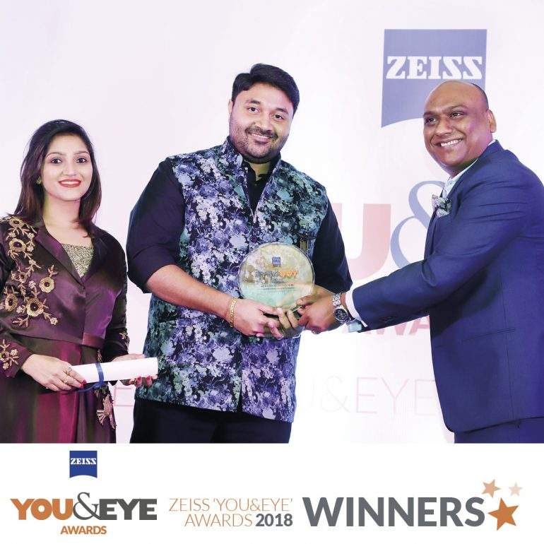 Classic Vision, Mumbai Wins 'Best Store Display And Design – Boutique Store (Metros) in ZEISS 'YOU&EYE' AWARDS 2018