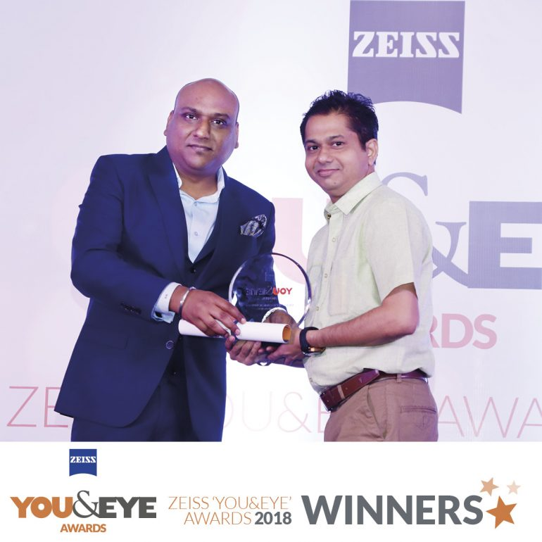 Mukta Opticians, Goa Wins Excellence in Clinical Support- Retail Chains (All India) in ZEISS 'YOU&EYE' AWARDS 2018