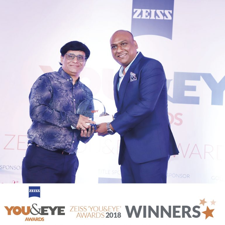 Alankar Eye Care, Mumbai Wins Excellence in Customer Service – Boutique Store (Metros) in ZEISS 'YOU&EYE' AWARDS 2018