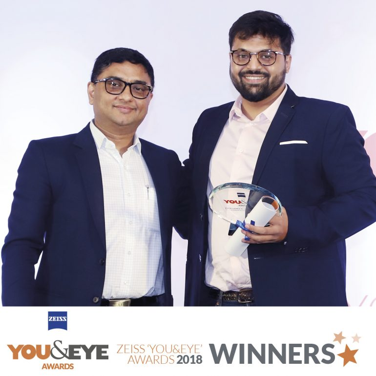 Perfect Optics, Surat Wins Excellence in Customer Service – Boutique Store (Non-Metros) in ZEISS 'YOU&EYE' AWARDS 2018