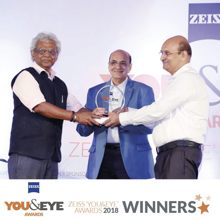 R. Kumar Opticians, Ahmedabad wins Excellence In Customer Service – Retail Chains (All India) in ZEISS 'YOU&EYE' AWARDS 2018