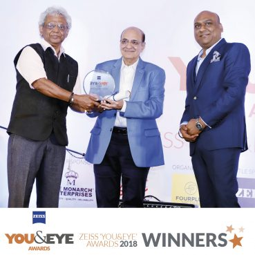 Mr. Anup Kumar honoured with Lifetime Achievement Award (Retail) at ZEISS 'YOU&EYE' AWARDS 2018