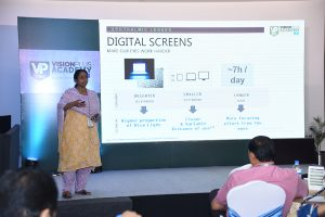 Ananthalakshmi of Essilor educates the audience about Digital Strain In Today's Times.