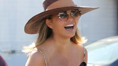 Chrissy Teigen Spotted In Chloé Sunglasses