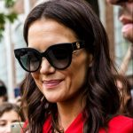 Katie Holmes outside Fendi at Milan Fashion Week