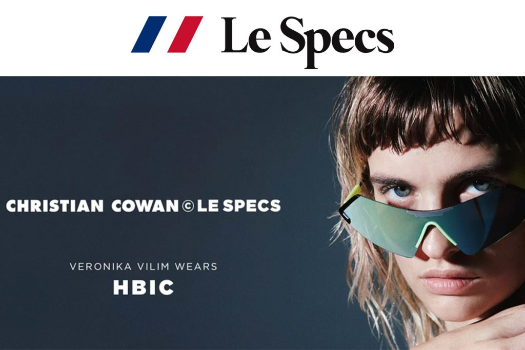 Le Specs Collaborates With Designer Christian Cowan