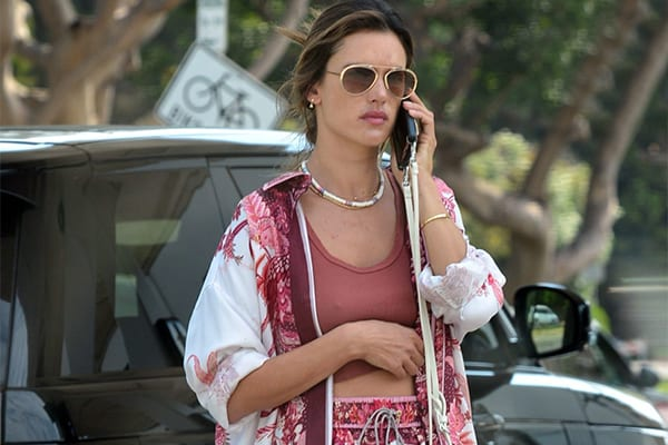 Alessandra Ambrosio, Luxurious Casual in Linda Farrow