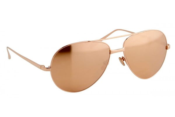 128-C6-Rose Gold Aviator from Linda Farrow