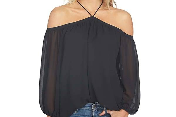 Off-the-Shoulder, Halter-style Blouse from 1.State