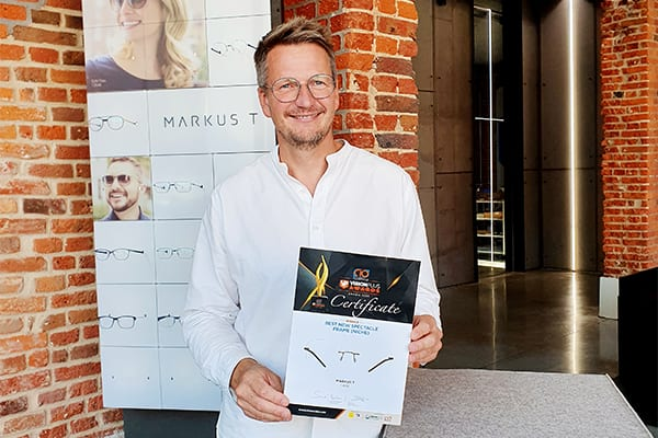 Markus T Wins Award For Best New Spectacle Frame (Niche)  at CIO VP AWARDS 2020