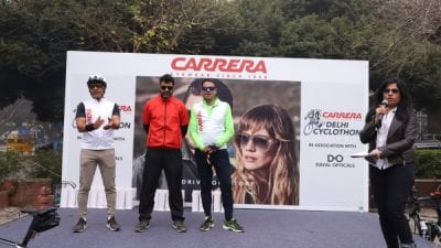 Carrera Eyewear Successfully Concludes its First Cyclothon in New Delhi